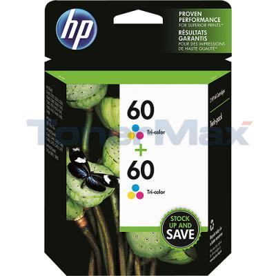 HP 60 INK TRI-COLOR TWIN PACK